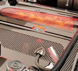 American Car Craft Chevrolet Corvette 1997-2004  Plenum Cover Perforated Low Prof Illum. White LED 033069-WHTL