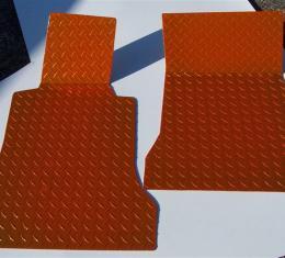 American Car Craft Chevrolet Corvette 2005-2013  Floor Mats Show Diamond Plate Orange 041003