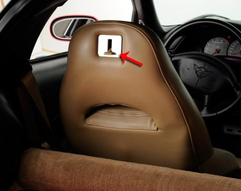 American Car Craft Seat Lever Plate Satin 2pc 031039