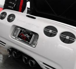 American Car Craft Chevrolet Corvette 1997-2004  Tag Plate Laser Mesh Rear 032026