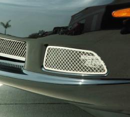 American Car Craft Chevrolet Corvette 2005-2013  Driving Light Covers Laser Mesh 2pc C6 042075