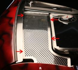 American Car Craft Chevrolet Corvette 1997-2004  Inner Fender Accent Plates Perforated 033071
