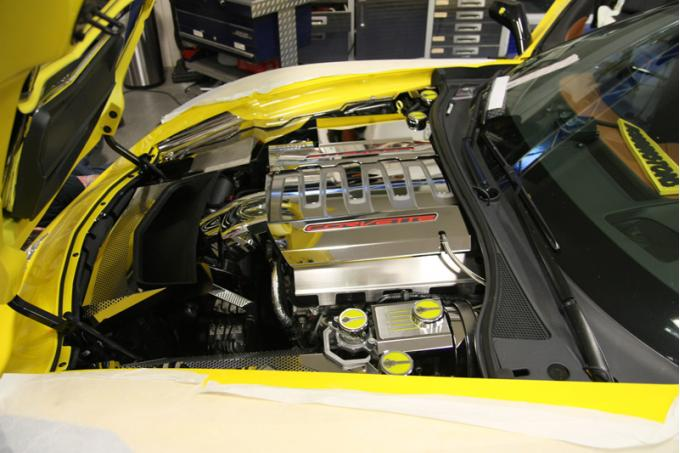 American Car Craft 2008-2019 Chevrolet Corvette Lower Fuel Rail Covers Satin Dry Sump Version 053053