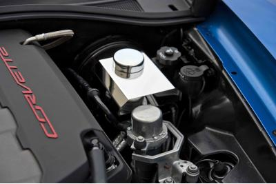 American Car Craft Chevrolet Corvette 2014-2018  Master Cylinder Cover Polished w/chrome cap cover MANUAL 053038