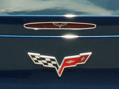 American Car Craft Chevrolet Corvette 2005-2013  5th Brake Light Trim Crossed Flags Style GML 042115