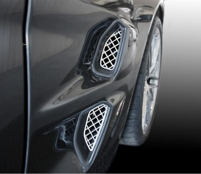 American Car Craft 2005-2013 Chevrolet Corvette Vent Grilles Laser Mesh Side Polished 4pc ZR1 042102