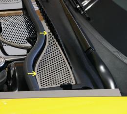 American Car Craft Chevrolet Corvette 2008-2013  Wiper Cowl Perforated 2pc 043058