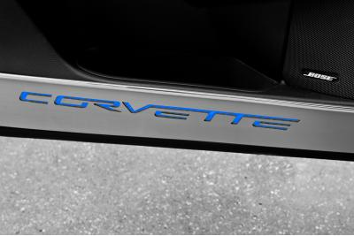 American Car Craft Chevrolet Corvette 2005-2013  Door Guards Corvette Style Satin 2pc 041048-BLK