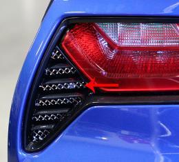 American Car Craft Chevrolet Corvette 2014-2018  Taillight Grilles Laser Mesh 2pc 052005
