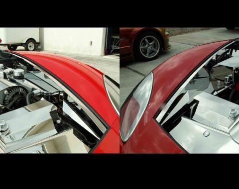 American Car Craft Chevrolet Corvette 2005-2013  Inner Fender Liner Polished Component 8pc 043021