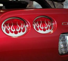 American Car Craft Chevrolet Corvette 1997-2004  Taillight Grilles Polished Flame 4pc 032040