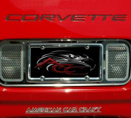 American Car Craft Chevrolet Corvette 1997-2004  Tag Plate Perforated Rear 032020