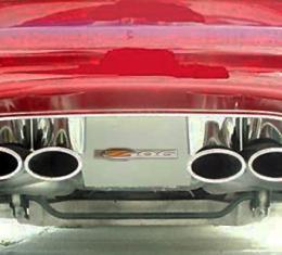 American Car Craft Chevrolet Corvette 1997-2004  Exhaust Filler Panel Polished w/Z06 Emblem GML 032004
