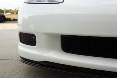 American Car Craft Chevrolet Corvette 2005-2013  Driving Light Covers Laser Mesh Black Stealth 2pc Z06 042106