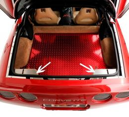 American Car Craft Chevrolet Corvette 1997-2004  Hatch Catch Plate Satin 2pc 031040