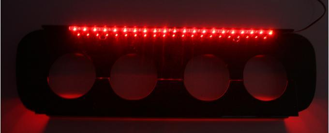 American Car Craft 2014-2019 Chevrolet Corvette Exhaust Filler Plate Powder Coated Black Illum. Red Stock System 052054