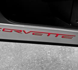 American Car Craft Chevrolet Corvette 2005-2013  Door Guards Corvette Style Satin 2pc 041048-BLU