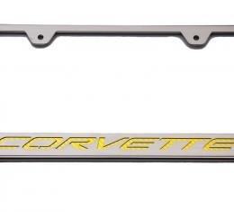 American Car Craft Chevrolet Corvette 2014-2017  Rear Tag Frame Corvette Script 052033-PRPL