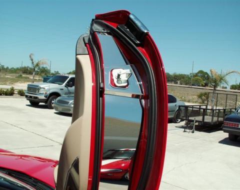 American Car Craft 2005-2013 Chevrolet Corvette Door Jamb Kit Lambo 041027