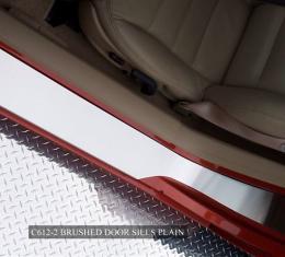 American Car Craft Chevrolet Corvette 2005-2013  Doorsills Satin Outer Plain No Ribs 041016