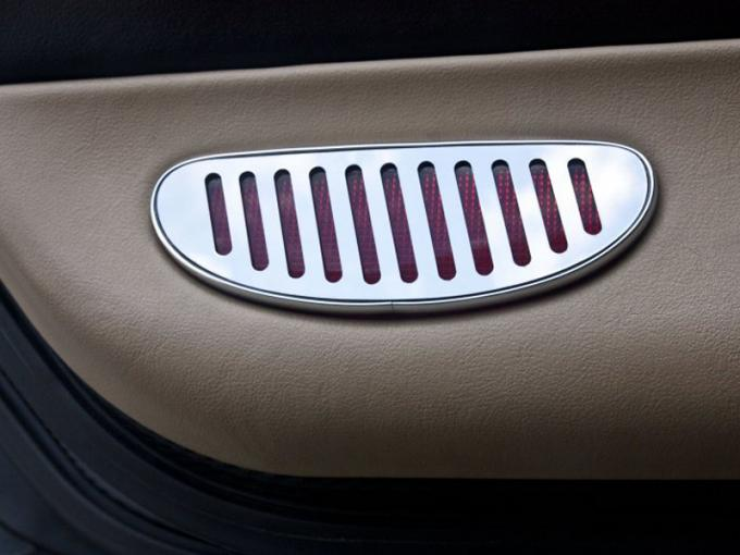 American Car Craft Door Panel Light Reflector Covers Polished 2pc 031044