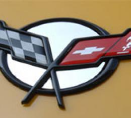 American Car Craft Chevrolet Corvette 1997-2004  Emblem Inserts Polished 4pc Convertible 031026