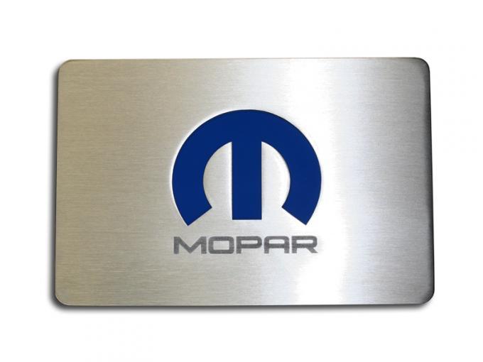 American Car Craft Fuse Box Top Plate Satin w/ Mopar M Logo 153033