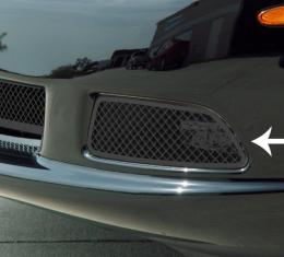 American Car Craft Chevrolet Corvette 2005-2013  Driving Light Covers Laser Mesh Black Stealth 2pc C6 042105