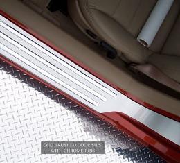 American Car Craft Doorsills Satin Outer w/Chrome Ribs 041014