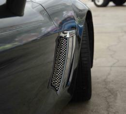 American Car Craft Chevrolet Corvette 2010-2013  Vent Grille Laser Mesh Side 2pc Front 042081