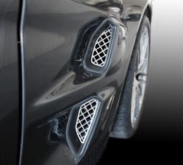 American Car Craft Chevrolet Corvette 2005-2013  Vent Grilles Laser Mesh Side Polished 4pc ZR1 042102