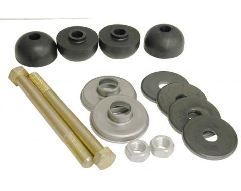 Corvette Rear Leaf Spring Bolt Kit, Stock Length, With Polyurethane Cushions, 1963-1982
