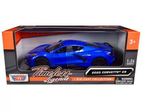 Motormax Timeless Legends 2020 C8 Corvette 1/24 Diecast | Blue