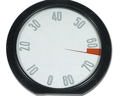 Corvette Tachometer Face, with Numbers, 8000 RPM, 1958