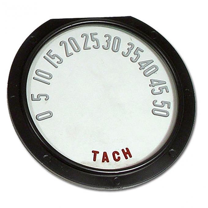 Trim Parts 55-57 Corvette Tachometer Face, with Numbers, Each 5112
