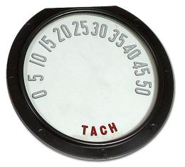 Trim Parts 55-57 Corvette Tachometer Face, with Numbers, Each 5112