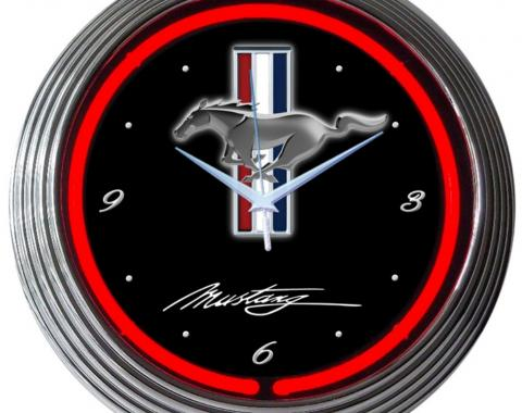 Neonetics Neon Clocks, Ford Mustang Neon Clock