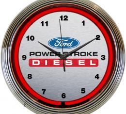 Neonetics Neon Clocks, Ford Power Stroke Diesel Neon Clock