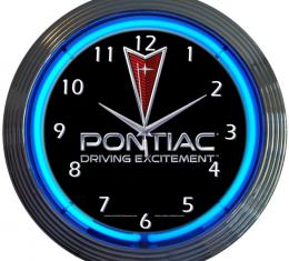 Neonetics Neon Clocks, Pontiac Driving Excitement Neon Clock