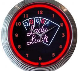 Neonetics Neon Clocks, Lady Luck Neon Clock