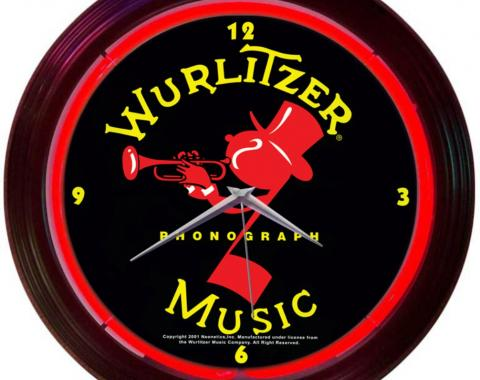 Neonetics Neon Clocks, Wurlitzer Johnny One Note Neon Clock