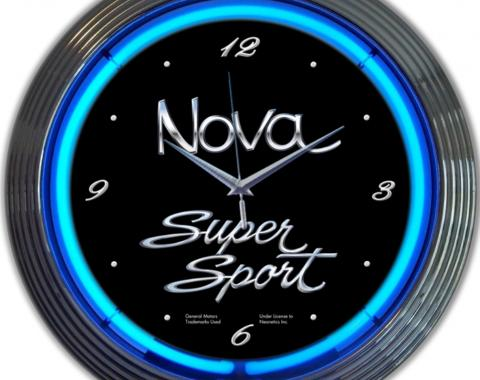 Neonetics Neon Clocks, Gm Chevy Nova Neon Clock