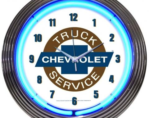 Neonetics Neon Clocks, Chevy Trucks Chevrolet Service Neon Clock