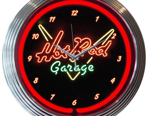 Neonetics Neon Clocks, Hot Rod Garage Neon Clock