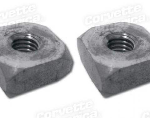 Corvette Rad Lower Support/Bdy Mount Nuts, Square, 1963-1982
