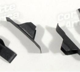 Corvette Brake Adjuster Hole Covers, Metal, 4 Piece, 1953-1962