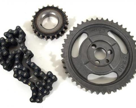 Corvette Timing Chain & Gears, Double Roller, 1957-1979