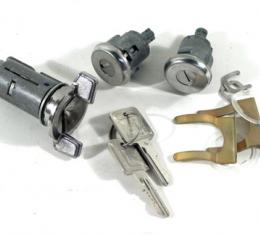 Corvette Lock Set, Ignition/Doors with Electric, 1979-1982