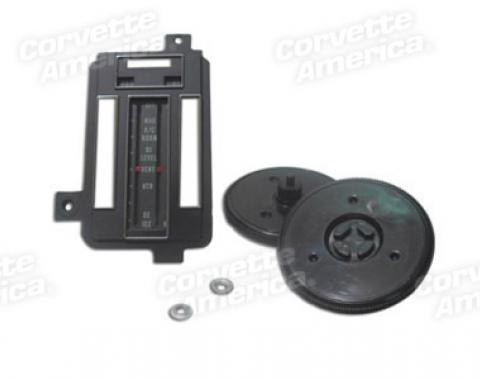 Corvette Heater/Ac Control Faceplate Kit, Air Conditioning, 1969-1971