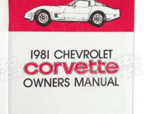 Corvette Owners Manual, 1981